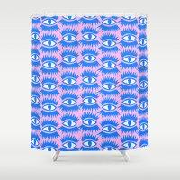 Bold Eyes II Shower Curtain