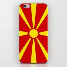 Macedonian national flag iPhone & iPod Skin