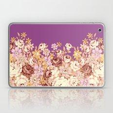 floral decor on purplish pink Laptop & iPad Skin