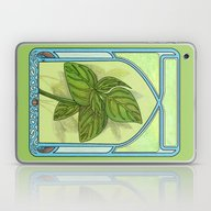 Art Nouveau. Basil. Laptop & iPad Skin
