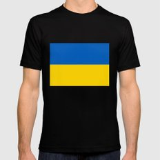National flag of Ukraine, Authentic version (to scale and color) SMALL Black Mens Fitted Tee