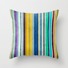 Colorful Stripes With Texture Throw Pillow