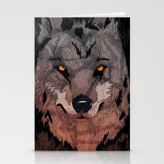 Wolf Mother Stationery Card