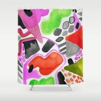 Vibrance Watercolour  Shower Curtain
