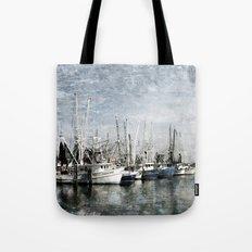 Shrimp Boats at the Harbor Tote Bag