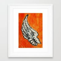 No Angel Framed Art Print