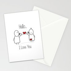 Hello I Love You Stationery Cards