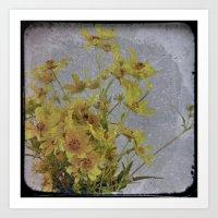 Yellow Flower 2: Antique TTV Art Print