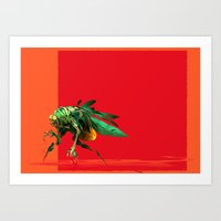 Mad Fly Art Print