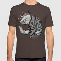 punk fish Mens Fitted Tee Brown SMALL