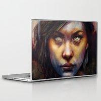 woman Laptop & iPad Skins featuring Una by Michael Shapcott