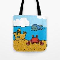 Fish and Crab Tote Bag