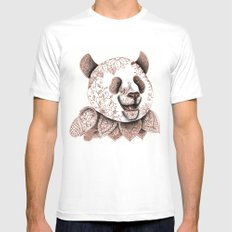 Panda SMALL Mens Fitted Tee White