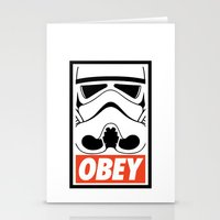 OBEY Storm Trooper  Stationery Cards