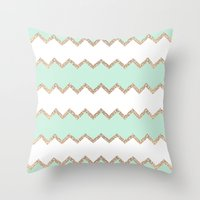 AVALON SEAGREEN Throw Pillow