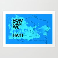 Hope for Haiti. Art Print