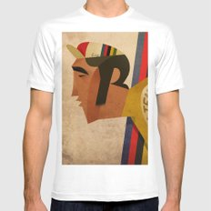 Eddy SMALL White Mens Fitted Tee