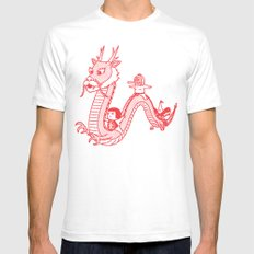 A Journey By Dragon Mens Fitted Tee White SMALL