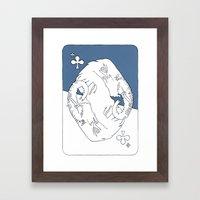 Elephant Card Framed Art Print