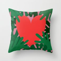 Wild Does My Love Grow Throw Pillow