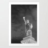 Liberty By Night Art Print