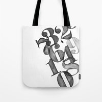 watercolornumbers Tote Bag