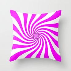 Swirl (Fuchsia/White) Throw Pillow