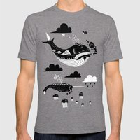 Badasses Roaming The Ski… Mens Fitted Tee Tri-Grey SMALL