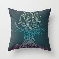 Trees of Neon Throw Pillow