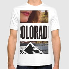 Colorado Bound SMALL White Mens Fitted Tee