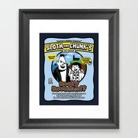 Sloth and Chunk's Ice Cream Framed Art Print