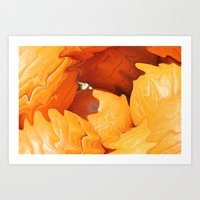Happy Halloween - Pumpki… Art Print