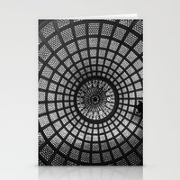 Tiffany Glass Dome Black… Stationery Cards
