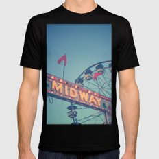 Midway Black Mens Fitted Tee SMALL
