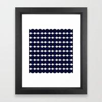 Blue Dots Framed Art Print