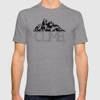 Climb Mens Fitted Tee Athletic Grey SMALL