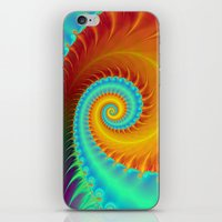 Toothed Spiral In Turquo… iPhone & iPod Skin