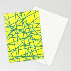 yellow random fun Stationery Cards