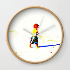 Straight Ahead to a Wonderful World! Wall Clock