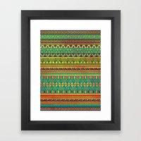 Inspired Aztec Pattern 3 Framed Art Print