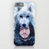 iPhone & iPod Case featuring Jon Snow by MUSENYO