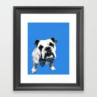 Blue Bowser Framed Art Print
