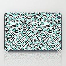 Mint Zebra print hearts iPad Case