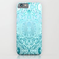 iPhone Cases featuring Twists & Turns in Turquoise & Teal by micklyn