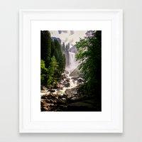 Yosemite Waterfall Framed Art Print