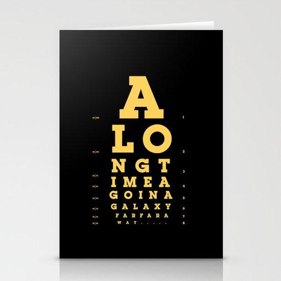 Jed Eye Chart Stationery Card