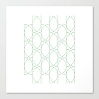 #142 Forty-two semicircles – Geometry Daily Canvas Print