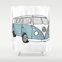 VW Camper Shower Curtain