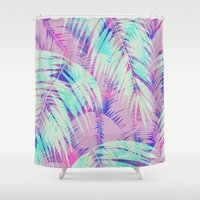 Maui Palm {Pink A} Shower Curtain