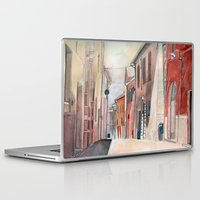 italy Laptop & iPad Skins featuring Italy, watercolor by Jane-Beata